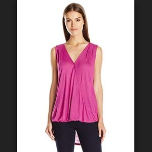 Two by Vince Camuto Hi-Lo Front Twist Wrap Tank XL